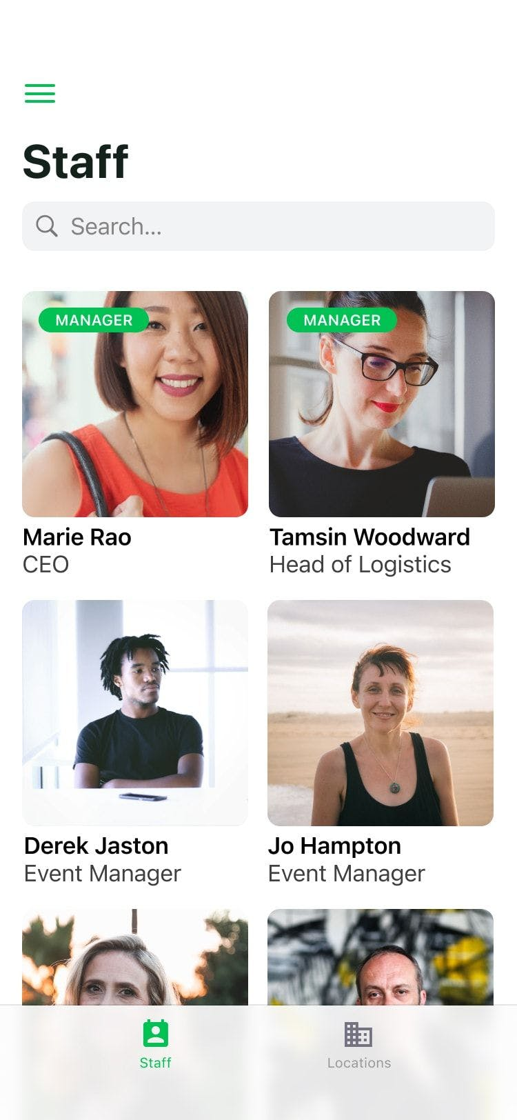 Glide Employee Directory app preview